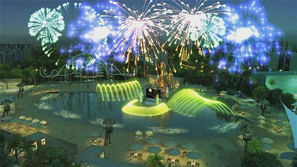 海南三亚梦幻水上乐园音乐喷泉合同成功签订